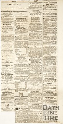 Newspaper article containing a biography of Thomas Barker. 1862. verso