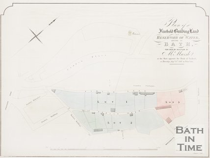 Plan of Freehold Building Land and Reservoir of Water by Camden Place. 1860.
