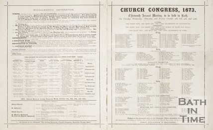 Appeal to the Reception Committee for accommodation for the visitors from the Church Congress. 1873.