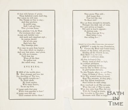Hymn sheet from the consecration of St Andrews Church. 1873. verso