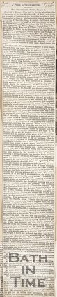 Newspaper article concerning the trial of Rodrick vs. Brown.