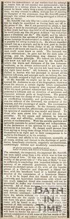 The Obituary of William Sutcliffe. 1852.