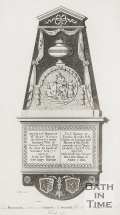 Monument erected in the chancel of the beautiful church of St. Stephen, Wallbrook 1773