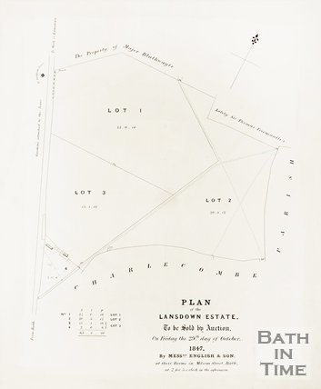 Plan of the Lansdown Estate to be sold at auction, 1847