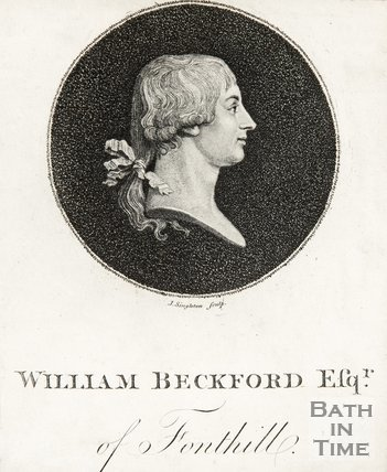 Side profile of William Beckford Esq. of Font Hill,