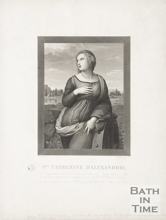 Portrait of St. Catherine d'Alexandrie, 1824