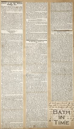 Newspaper article describing the Funeral of William Beckford 1844