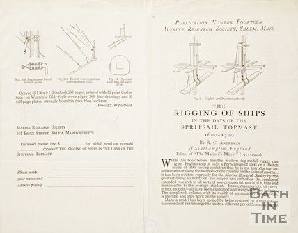 A Pamphlet on the Rigging of Ships 1600-1720