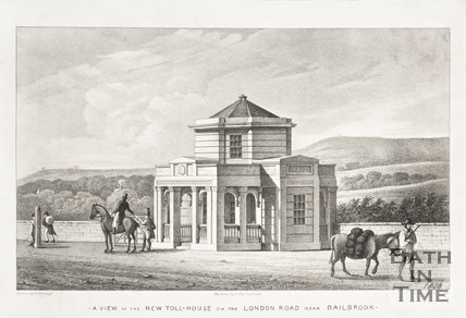 A view of the new Toll House on the London Road in Bailbrook