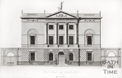 West Front of the Guildhall, Bath c.1780?