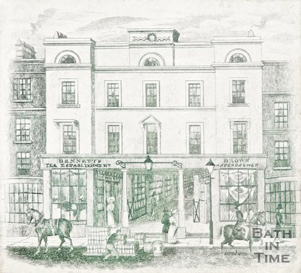 Bennett and Co, Tea Dealers and Coffee Merchants, The Corridor, 18 Market Place, Bath, 1861