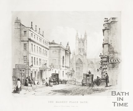 The Market Place, White Lion Hotel and High Street 1842
