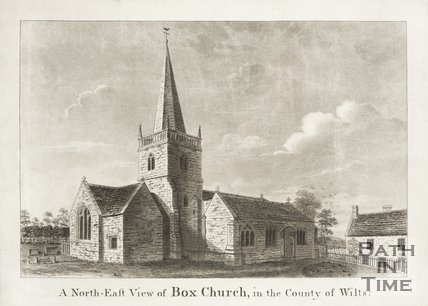 North East view of Box Church in the County of Wilts