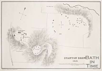 Map of Stanton Drew, 1858