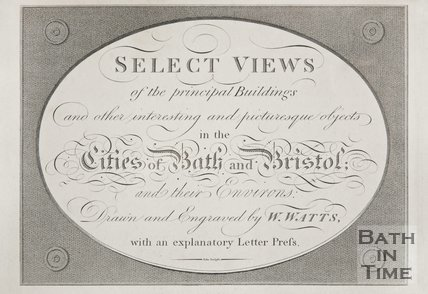 Front page of Views of Bath and Bristol by W. Watts