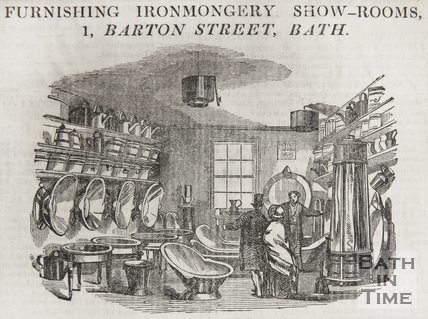 Furnishing Ironmongery Show Rooms, 1, Barton Street, 1835