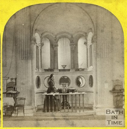 The mineral fountain at the Pump Room, Bath c.1865