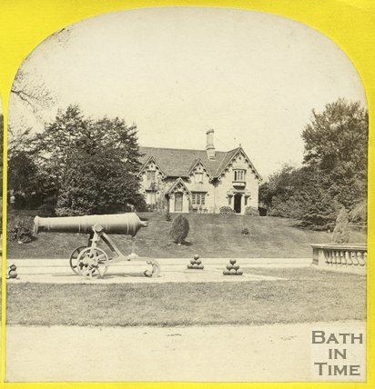 Park Dairy and cannons, Royal Victoria Park, Bath c.1865