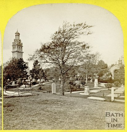 Lansdown Cemetery and Beckford's Tower, Bath c.1865