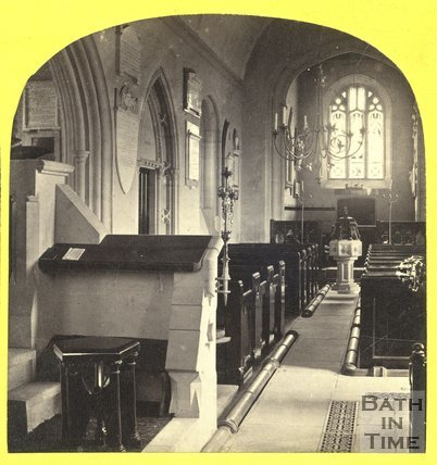 Interior of St. Nicholas Church, Bathampton 1863