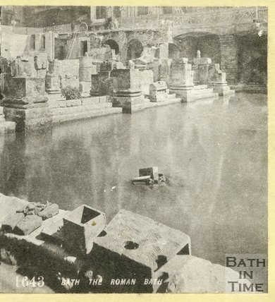 The Roman Great Bath, Bath c.1870