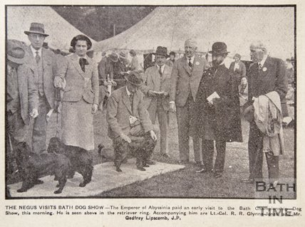 Haile Selassie visits Bath Dog Show, May 1937