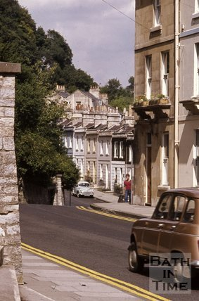 The east end of Camden Crescent and Camden Road, Bath, c.1970s