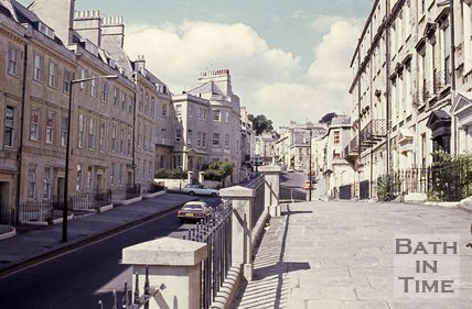 Belvedere, Lansdown Road looking north, Bath, c.1980s