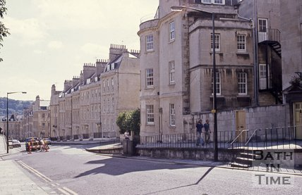Lansdown Road looking south, Bath, c.1980s