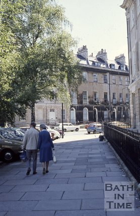 Laura Place looking towards Johnstone Street, Bath, c.1980s