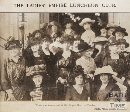 Members of the Ladies Empire Luncheon Club at the inauguration, Bath, October 1921