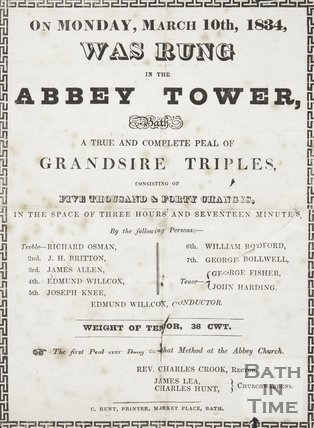 Notice Of Bells Rung In The Abbey Tower, 1834