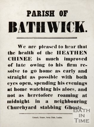 Notice To The Parish Of Bathwick
