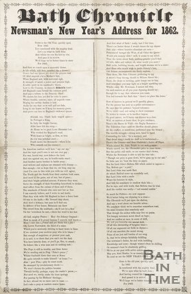 Bath Chronicle New Year's Address for 1862