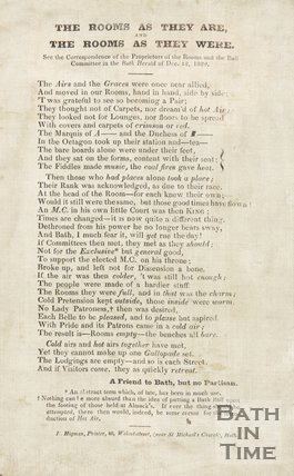 Poem By A Friend to Bath, but no Partisan, on Silk, 1829