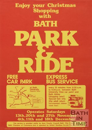 Poster Advertising Bath Park & Ride