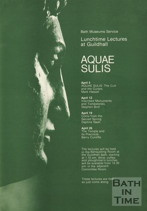 Poster Advertising Lunchtime Lectures On Aqua Sulis, 1983