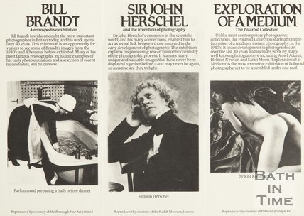 Inside Leaflet For Royal Photographic Society, 1981
