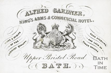 Trade Card for Alfred GARDNER Upper Bristol Road, Bath 18??