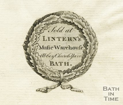 Trade Card for LINTERN's Abbey Church Yard, Bath