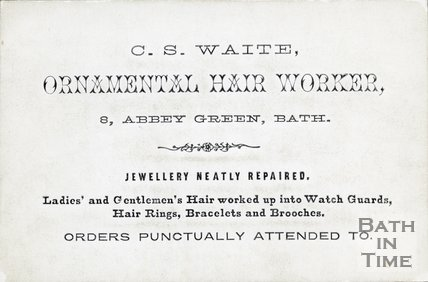 Trade Card for C. S. WAITE 8 Abbey Green, Bath 188?