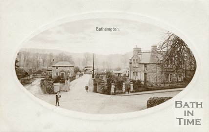 Bathampton School and Station, c.1912
