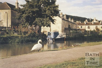 Chapel Row, Bathampton and the Kennet & Avon Canal, c.1990