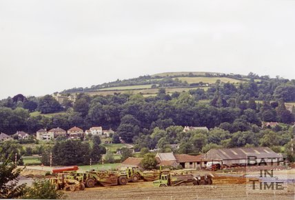 Batheaston Bypass Looking Towards Little Solsbury, 1994