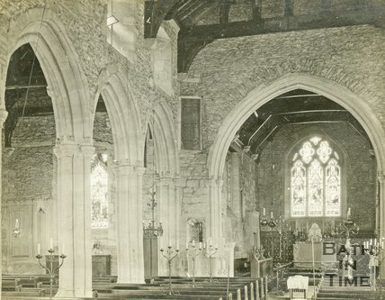 Beckington Church Interior, c.1920s?