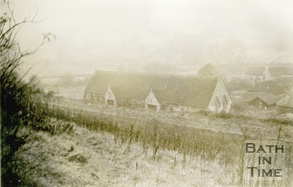 Bradford-on-Avon Tithe Barn viewed from the Kennet & Avon canal, 1945