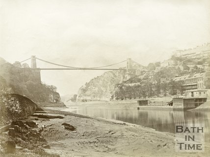 Clifton Suspension Bridge Over Avon Gorge, Bristol, c.1880