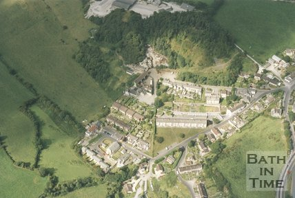 Clandown Primary School, Farm & Scrapyard, Aerial View, 1993