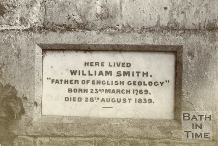 Midford, Somerset, William Smith Plaque at Tucking Mill, c.1890