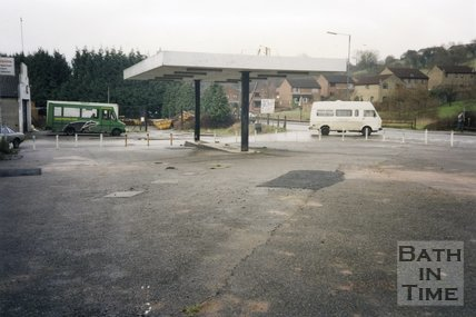 Midsomer Norton, Somerset, Somer Garage Site, Forecourt and Badgerline Bus, March 1996